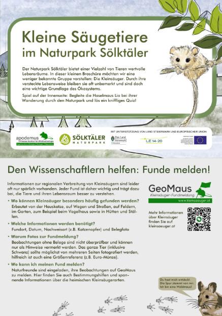 Faltblatt Naturpark Sölktäler